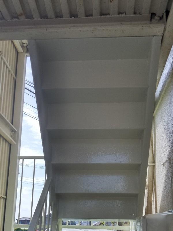 茨城県取手市新町 Yマンション 外階段・手摺り塗装 錆びの恐ろしさとは1 (1)