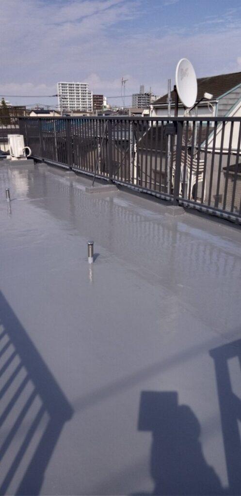 東京都葛飾区 I様邸 防水工事 外壁補修 屋上 ウレタン防水 (14)