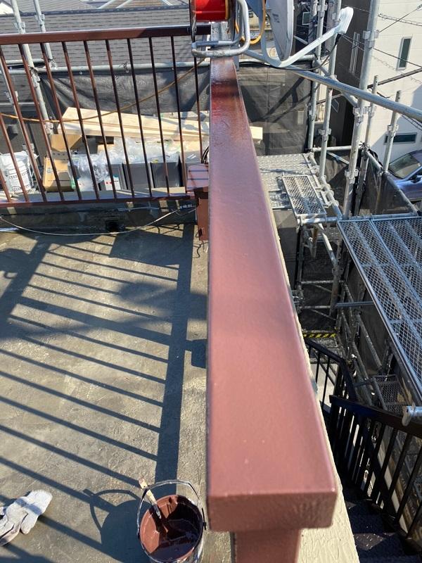 東京都葛飾区 I様邸 防水工事 外壁補修 屋上手摺りの塗装 ケレン作業とは (5)