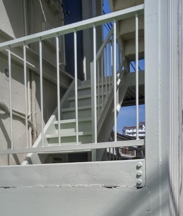茨城県取手市新町 Yマンション 外階段・手摺り塗装 錆びの恐ろしさとは1 (2)