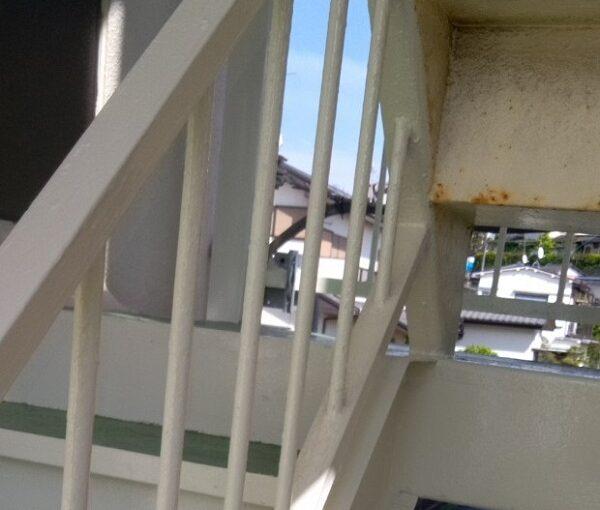 茨城県取手市新町 Yマンション 外階段・手摺り塗装 錆びの恐ろしさとは (1)