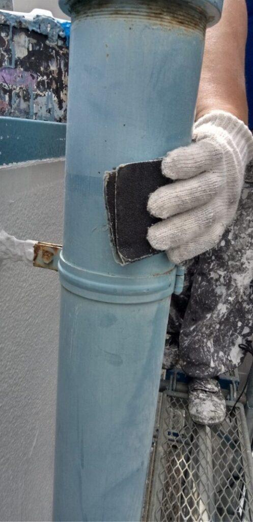 東京都台東区 ブロッケンビル改修工事 付帯部塗装 塗料を選ぶ際の注意点 (1)