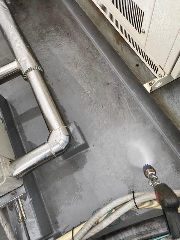 東京都台東区 ブロッケンビル改修工事 下地処理 高圧洗浄 (5)