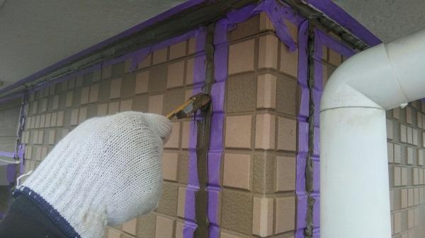 埼玉県八潮市 A様邸 屋根塗装・外壁塗装 下地処理 シーリング(コーキング)工事 (7)