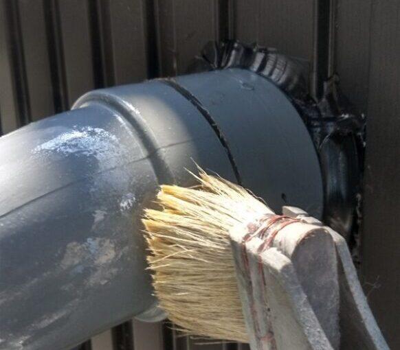 東京都葛飾区 I様邸 雨樋塗装 庇塗装 雨樋のメンテナンス方法 塗装の工程 (1)