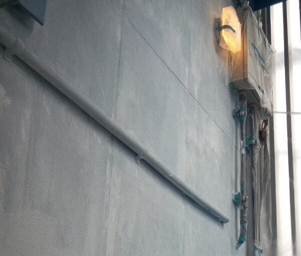 東京都台東区 ブロッケンビル改修工事 下塗り 関西ペイント RSフィラー (4) - コピー