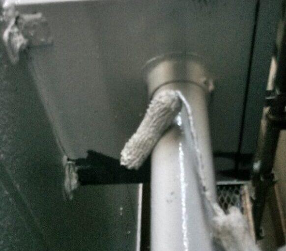 東京都台東区 ブロッケンビル改修工事 付帯部塗装 雨樋 塗料を選ぶ際の注意点 (1)