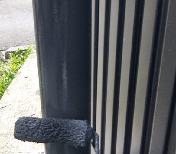 東京都葛飾区 I様邸 雨樋塗装 庇塗装 雨樋のメンテナンス方法 塗装の工程 (4)