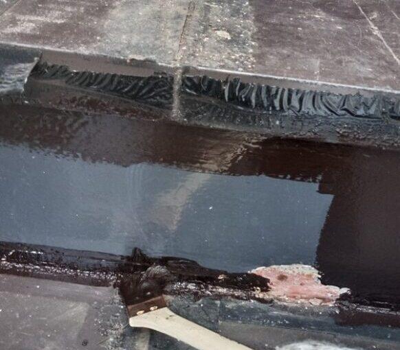 東京都江戸川区 外階段改修工事 アパート 錆び止め塗装 (2)