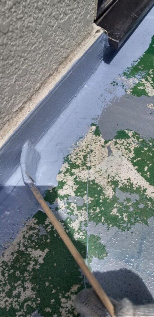 埼玉県さいたま市岩槻区 アパート 防水工事 ウレタン防水密着工法 サラセーヌ1 (2)