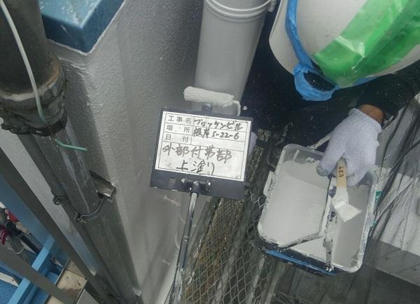 東京都台東区 ブロッケンビル改修工事 付帯部塗装 雨樋 塗料を選ぶ際の注意点 (4)