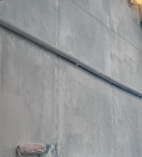 東京都台東区 ブロッケンビル改修工事 下塗り 関西ペイント RSフィラー (11)