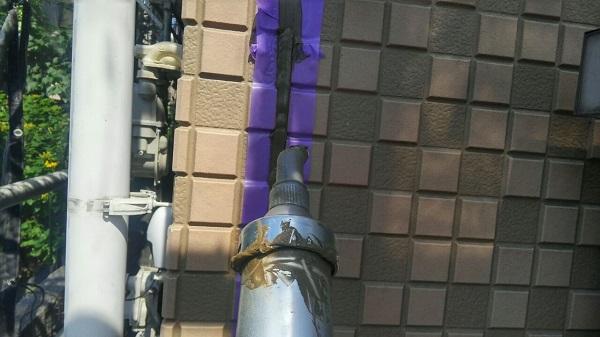 埼玉県八潮市 A様邸 屋根塗装・外壁塗装 下地処理 シーリング(コーキング)工事 (4)