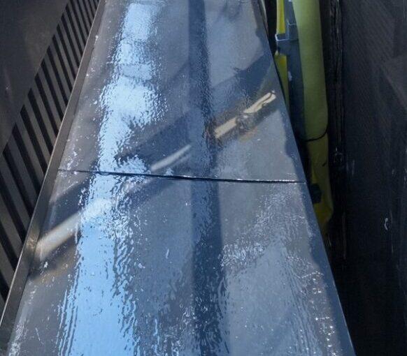 東京都葛飾区 I様邸 雨樋塗装 庇塗装 雨樋のメンテナンス方法 塗装の工程 (11)