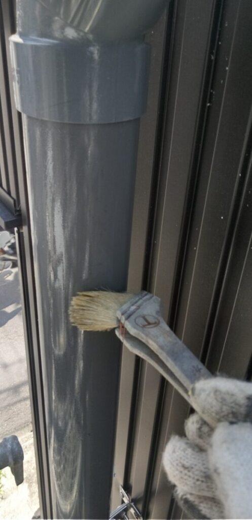 東京都葛飾区 I様邸 雨樋塗装 庇塗装 雨樋のメンテナンス方法 塗装の工程 (7)