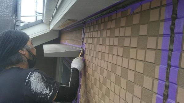 埼玉県八潮市 A様邸 屋根塗装・外壁塗装 下地処理 シーリング(コーキング)工事 (6)