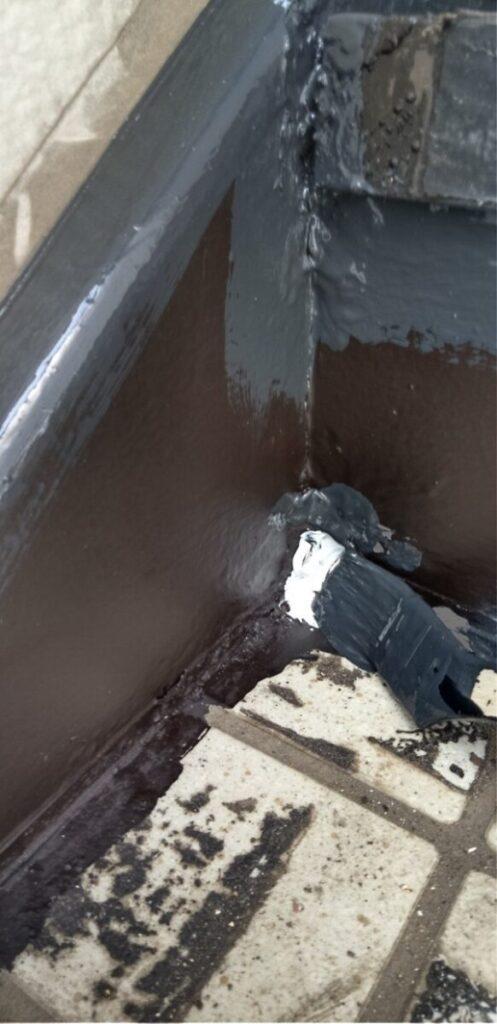 東京都江戸川区 外階段改修工事 アパート 上塗り ゴムマット敷 完工 (10)