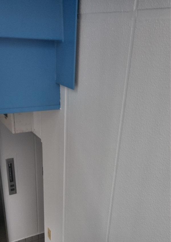 東京都台東区 ブロッケンビル改修工事 上塗り 塗装工事の工程 (4)