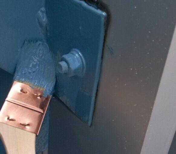 東京都台東区 ブロッケンビル改修工事 鉄骨階段塗装 錆びの恐ろしさ (15)