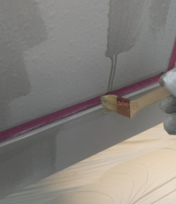 東京都台東区 ブロッケンビル改修工事 壁パネル塗装 (6)
