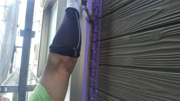 埼玉県八潮市 A様邸 屋根塗装・外壁塗装 下地処理 シーリング(コーキング)工事 (2)